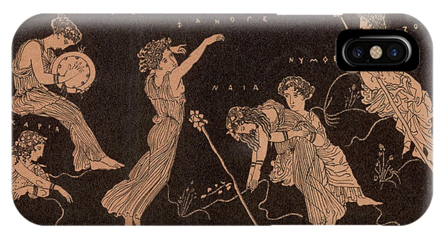 Dionysian IPhone X Case featuring the drawing Ancient Greece A Female Dancer by Mary Evans Picture Library