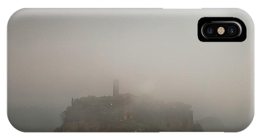 Autumn IPhone X Case featuring the photograph Ancient Town Of Civita Di Bagnoregio Lazio Italy by Matteo Colombo