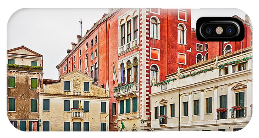 Venice IPhone X Case featuring the photograph Ancient Venetian Houses by Horst Werner