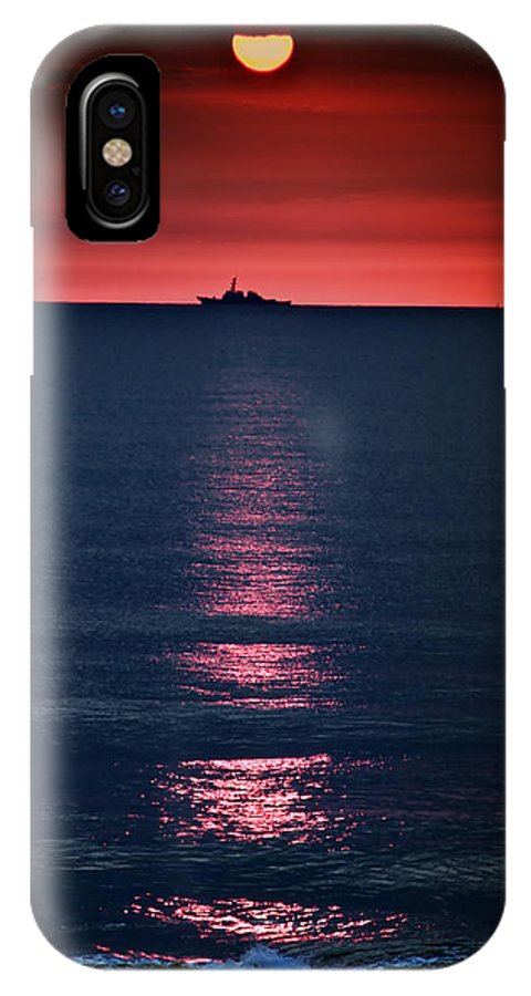 Atlantic IPhone X Case featuring the photograph And All The Ships At Sea by Tom Mc Nemar