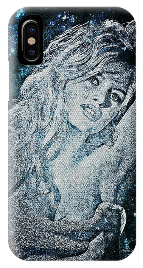 Goddess IPhone X Case featuring the digital art And God Created Woman by Absinthe Art By Michelle LeAnn Scott