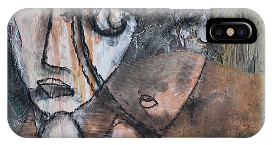 Figure IPhone X Case featuring the painting And I Knew It Was Love by Laurie Maves ART
