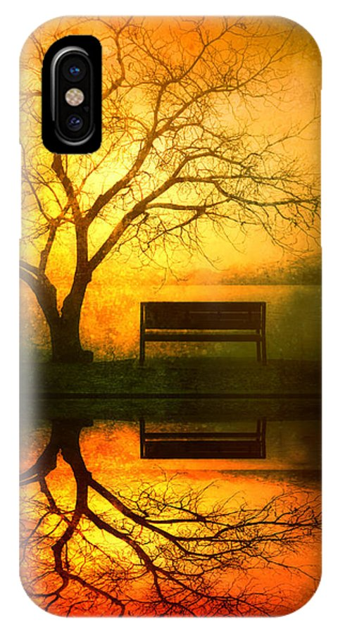Bench IPhone X Case featuring the photograph And I Will Wait For You Until The Sun Goes Down by Tara Turner