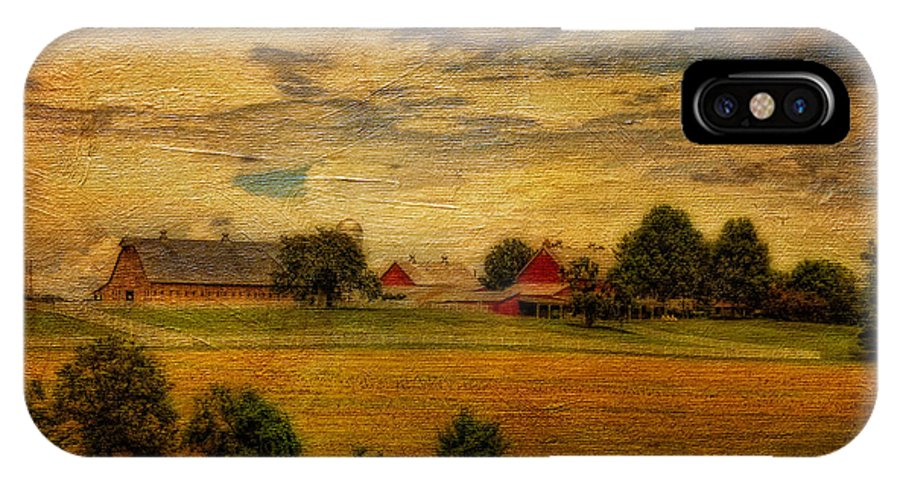Farm IPhone X Case featuring the photograph And The Livin' Is Easy by Lois Bryan