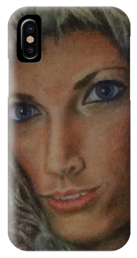 Paintings IPhone X Case featuring the painting Andrea by Jennifer Calhoun