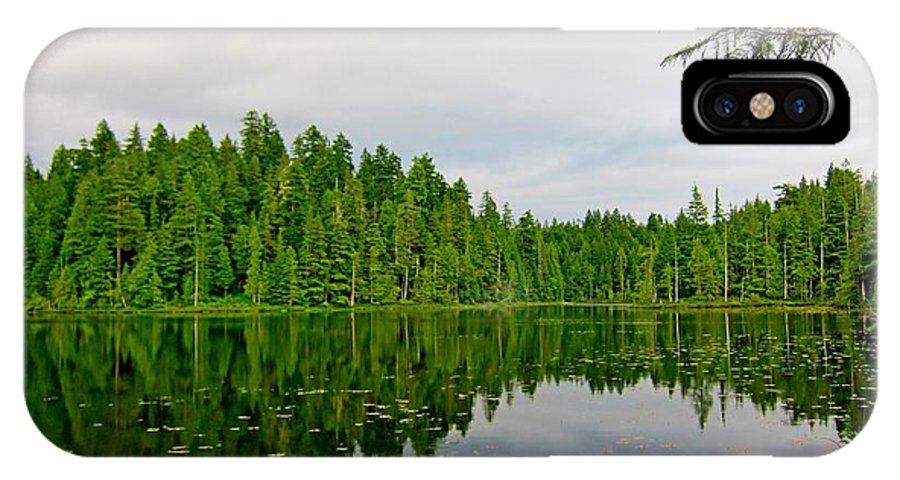 Lake IPhone X / XS Case featuring the photograph Andrew Lake by Lena Photo Art
