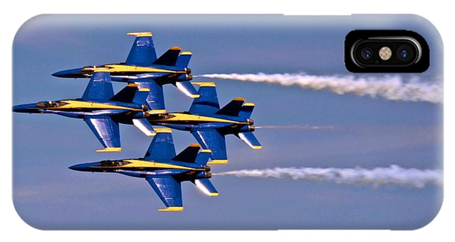 Airplane IPhone X Case featuring the photograph Andrews J B Air Show 11 by Ricardo J Ruiz de Porras