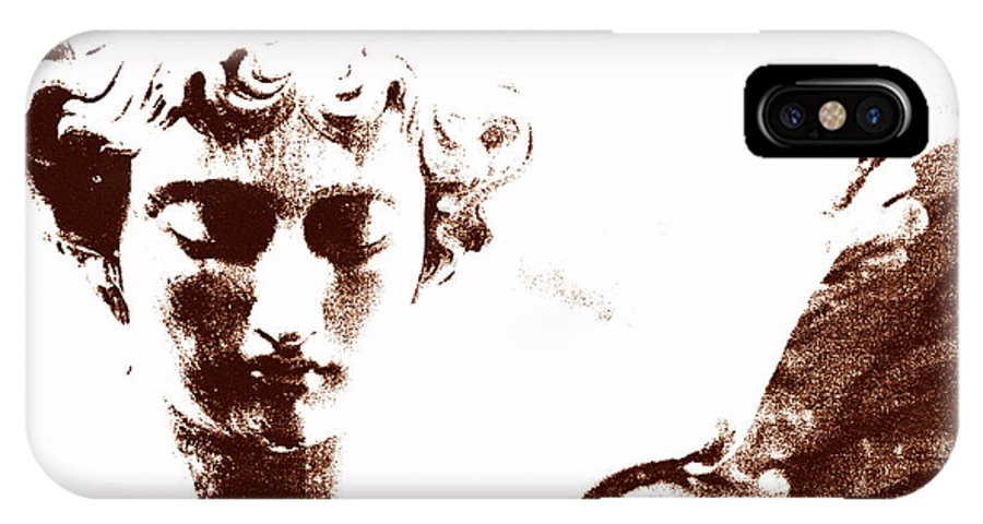 Angel IPhone X Case featuring the photograph Angel In Brown by Rhonda Burger