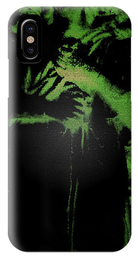Green IPhone X Case featuring the photograph Angel Of The Forest by Lisa Brandel