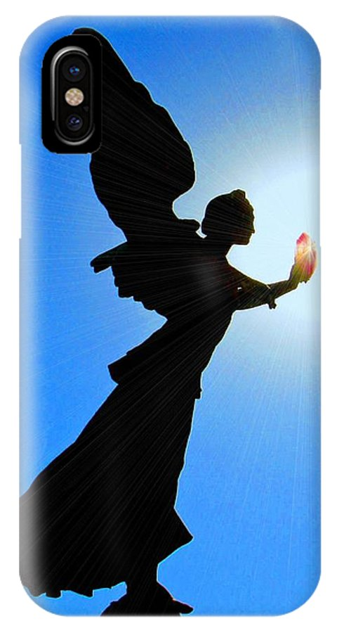 Angel IPhone X Case featuring the photograph Angelic by Patrick Witz