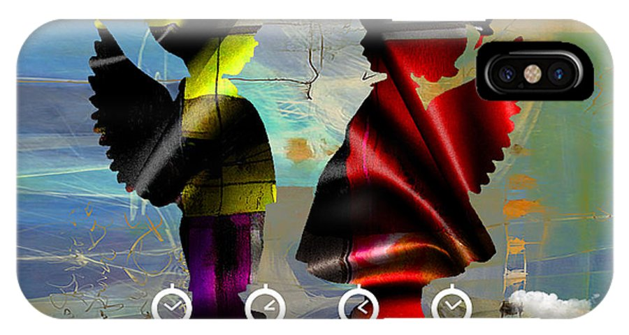Angel IPhone X Case featuring the mixed media Angels Flight by Marvin Blaine