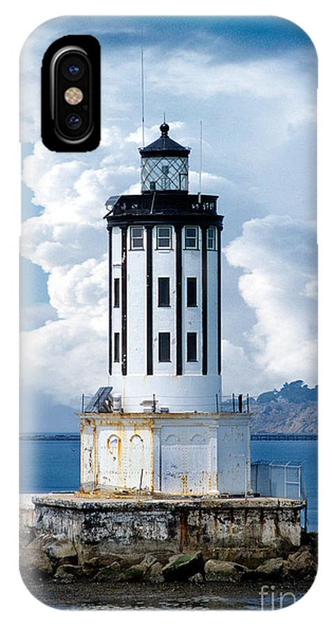 Angel's Gate Lighthouse IPhone X Case featuring the digital art Angel's Gate Lighthouse by Wernher Krutein