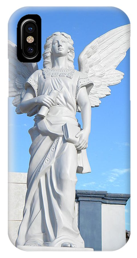 Angel IPhone X Case featuring the photograph Angels Watch Over You by Lew Davis