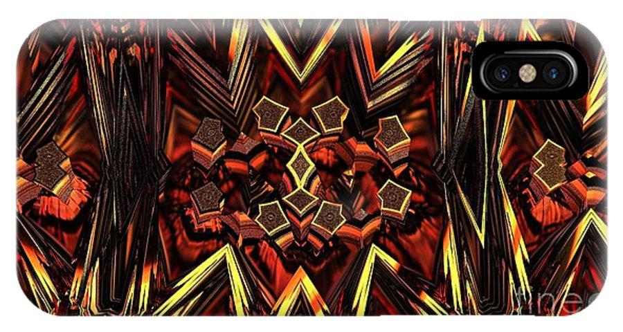 Fractal IPhone X Case featuring the digital art Anger Management by Jon Munson II