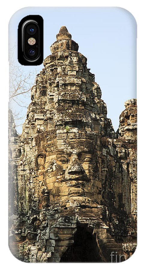 Historic Site IPhone X / XS Case featuring the photograph Angkor Thom South Gate by David Davis