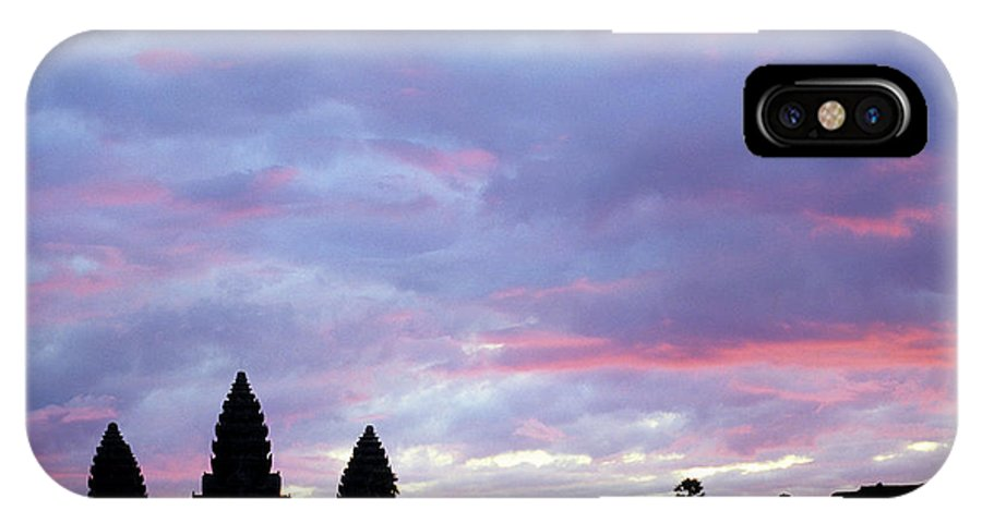 Angkor Wat IPhone X Case featuring the photograph Angkor Wat Sunrise 02 by Rick Piper Photography