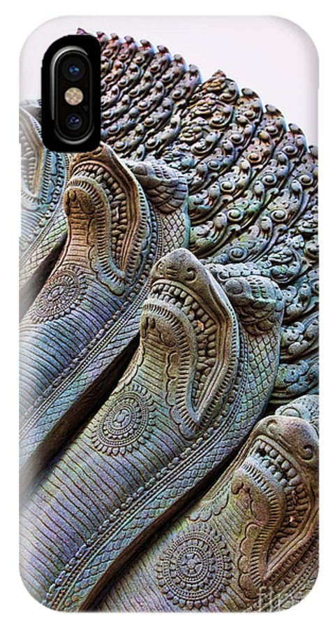 Angkor Wat IPhone X Case featuring the photograph Angkor Wat Xiii by Chuck Kuhn