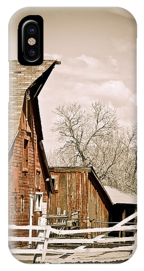 Americana IPhone X Case featuring the photograph Angle Top Barn by Marilyn Hunt