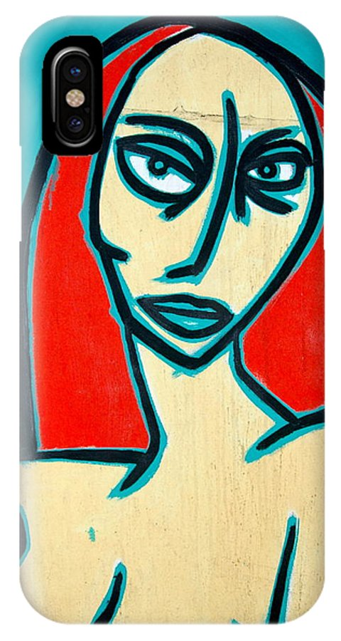 Oil IPhone Case featuring the painting Angry Jen by Thomas Valentine