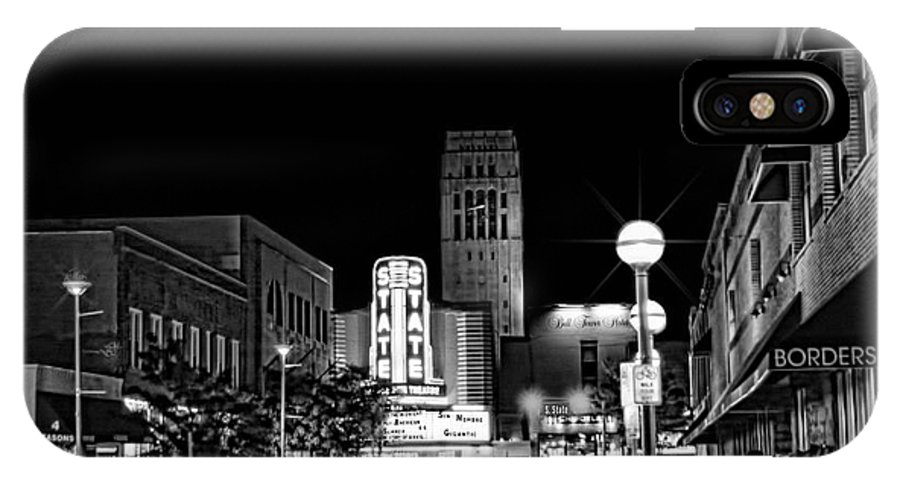 Ann Arbor IPhone X Case featuring the photograph Ann Arbor Nights by Pat Cook
