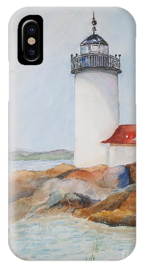 Annisquam IPhone X Case featuring the painting Annisquam Lighthouse by Kathryn G Roberts