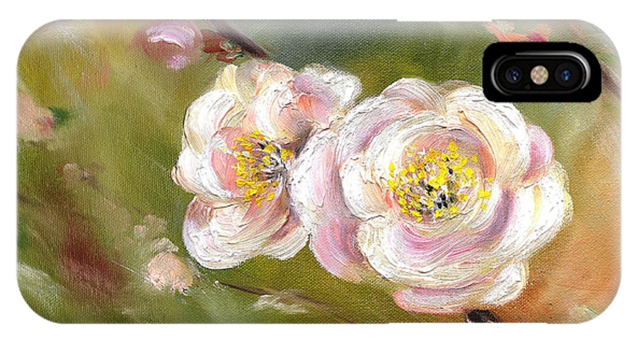 Flower IPhone X Case featuring the painting Anniversary by Hiroko Sakai