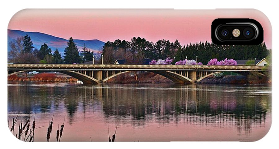 Bridge IPhone X Case featuring the photograph Another Pink Morning 2 by Lynn Hopwood