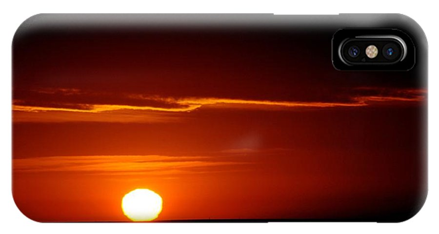 Landscape IPhone X Case featuring the photograph Another Sun From God by David Pennington Sr
