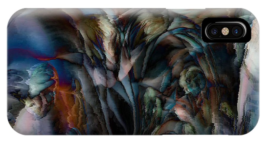 Another World Art IPhone X Case featuring the digital art Another World by Linda Sannuti