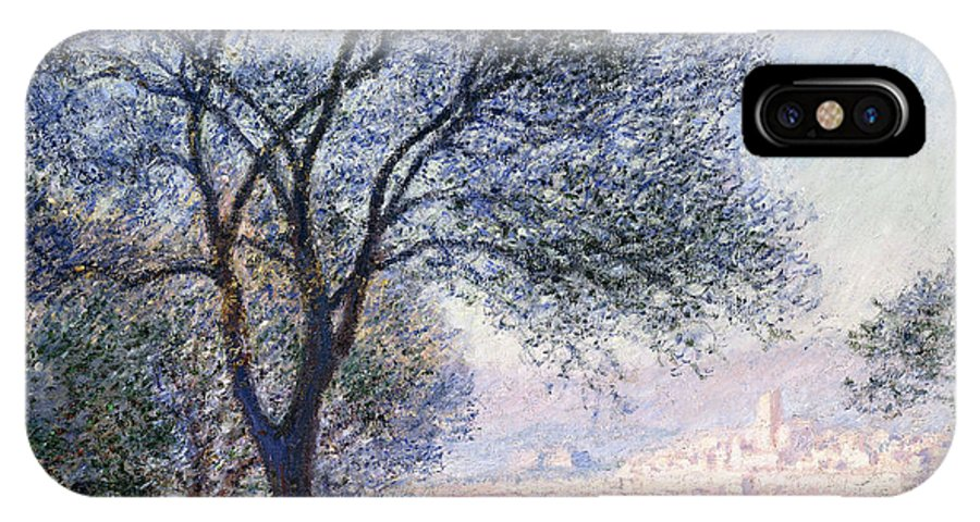 Monet IPhone X Case featuring the painting Antibes Seen From The Salis by Claude Monet