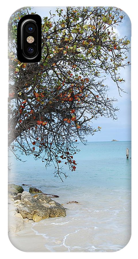 Caribbean IPhone X / XS Case featuring the photograph Antigua by Kathy Gibbons