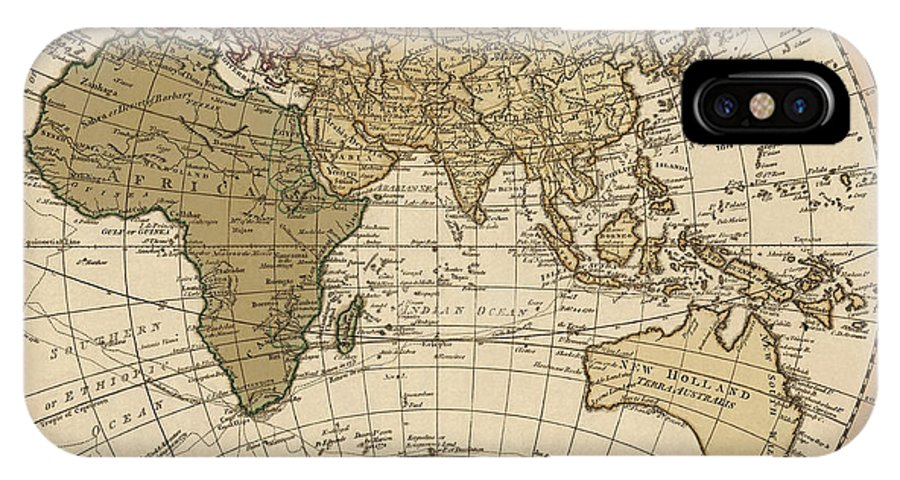 Antique Map Of The Eastern Hemisphere By William Faden - 1786 IPhone X Case
