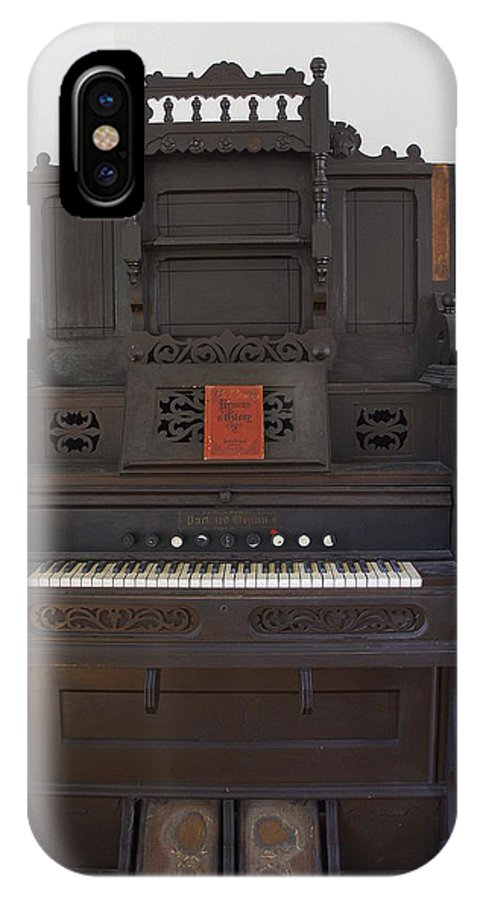 Organ IPhone X Case featuring the photograph Antique Organ by Laurie Perry