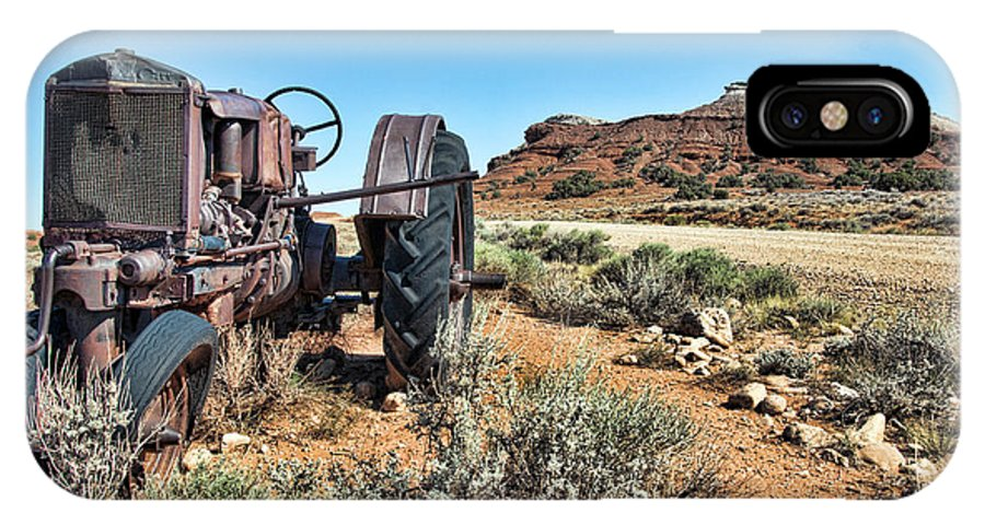 Antique IPhone X Case featuring the photograph Antique Tractor by Gary Beeler
