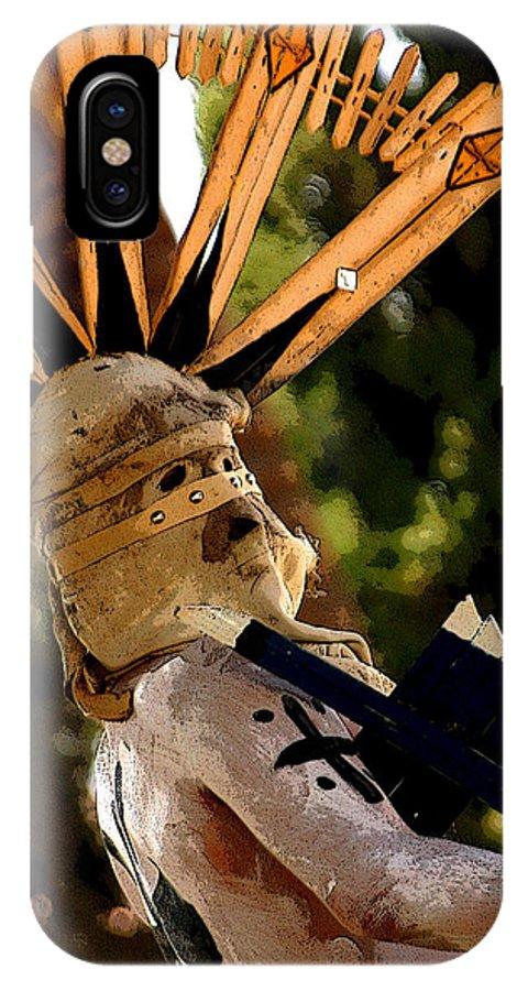 Pow Wow IPhone X Case featuring the photograph Apache Dancer by Joe Kozlowski