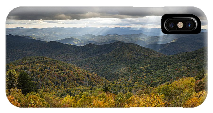 Appalachian IPhone X Case featuring the photograph Appalachian Autumn North Carolina Fall Foliage by Dave Allen
