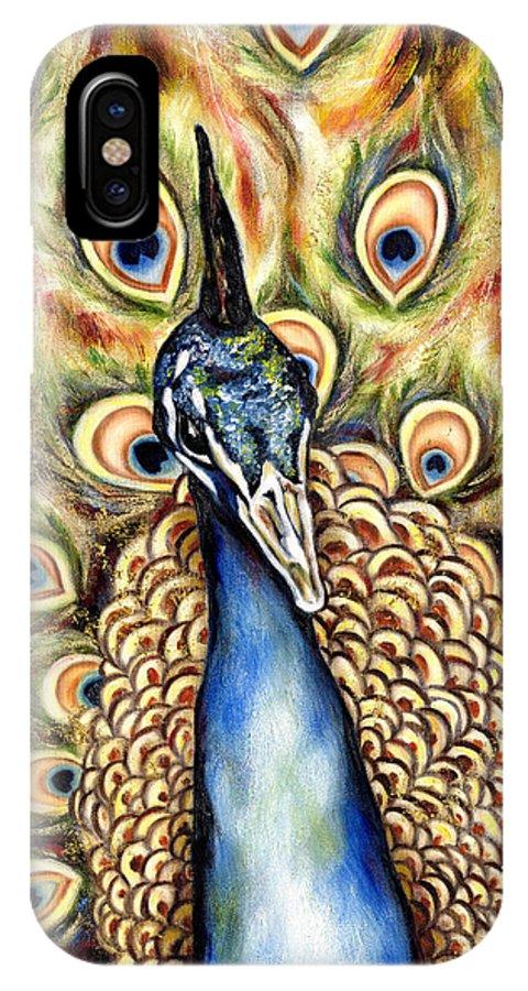 Bird IPhone X Case featuring the painting Applause by Hiroko Sakai