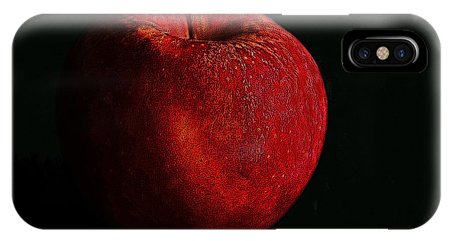 Apple IPhone X Case featuring the photograph Apple by Dragan Kudjerski