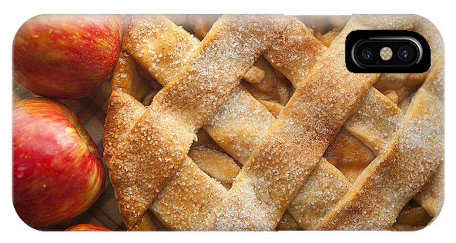Pie IPhone X Case featuring the photograph Apple Pie With Lattice Crust by Diane Diederich