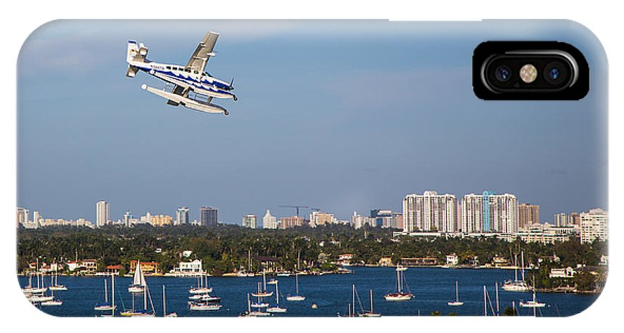 Seaplane IPhone X Case featuring the photograph Approach And Landing In Paradise by Rene Triay Photography
