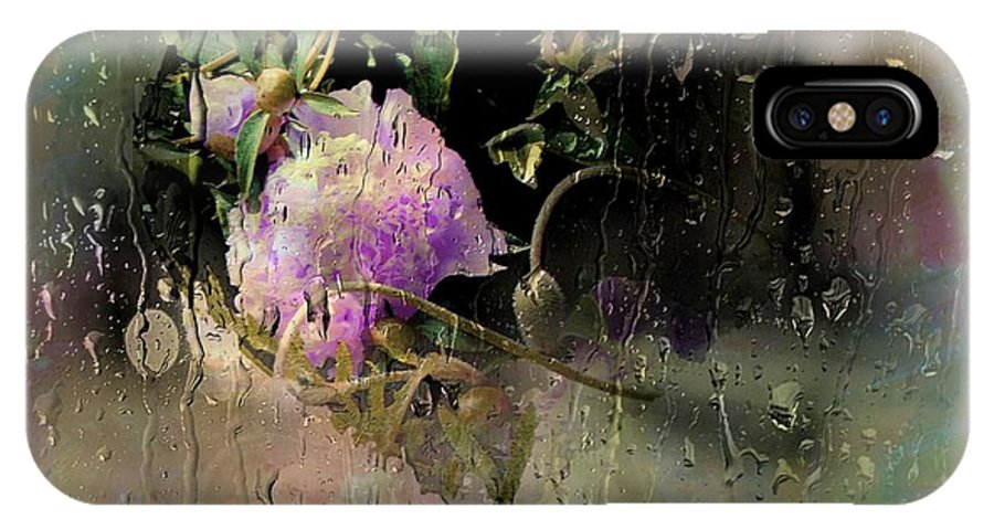 Spring IPhone X Case featuring the photograph April Showers by Ellen Cannon
