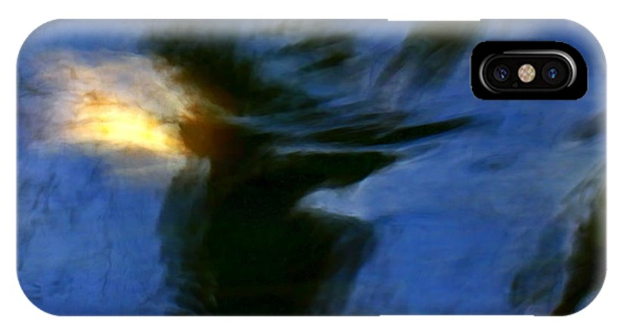 Blue IPhone X Case featuring the photograph Aquarelle Blue #1 by Dan Ticulescu