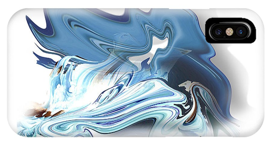 Astrology IPhone X Case featuring the painting Aquarius by Christian Simonian