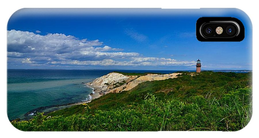 IPhone X Case featuring the photograph Aquinnah Cliff by Mithun Das