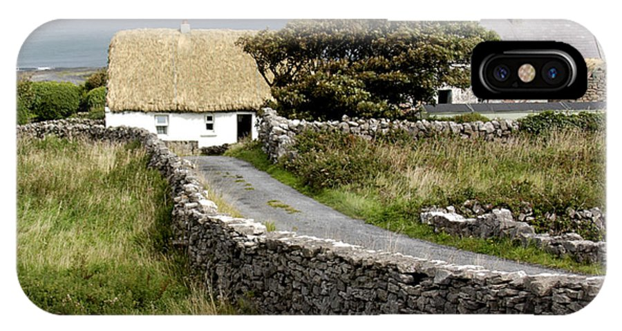 Cottage IPhone X Case featuring the photograph Aran Cottage by Jean Macaluso