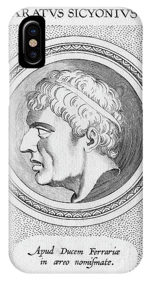 Aratus IPhone X Case featuring the drawing Aratus Of Sicyon Greek Statesman by Mary Evans Picture Library