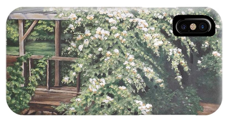 Oil Painting IPhone X Case featuring the painting Arbor Passage by Jodi Murphy
