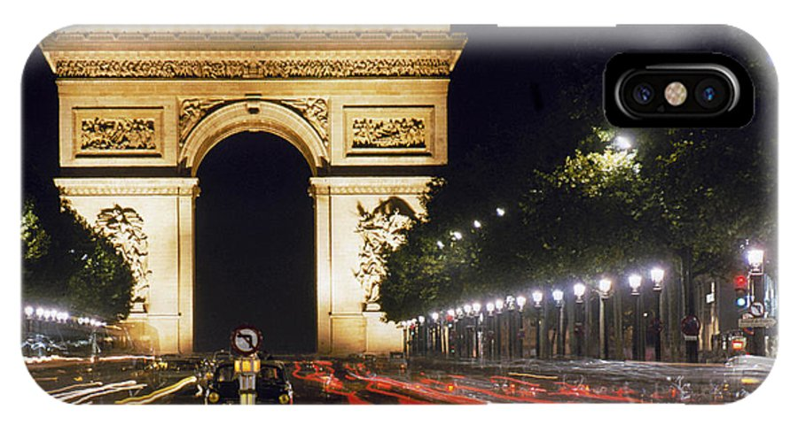 Arch IPhone X / XS Case featuring the photograph Arc De Triomphe by Granger