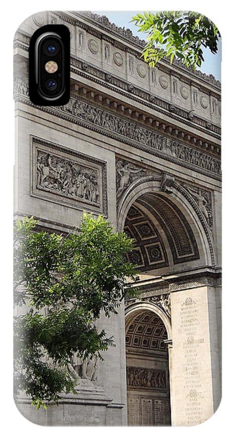 Paris IPhone X Case featuring the photograph Arc De Triomphe by Trevor McCabe