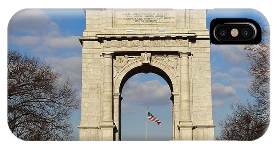 Arch IPhone X Case featuring the photograph Arch At Valley Forge by Cindy Manero